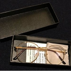 6973591e86fa Other - Unisex Hip Hop Round Gold Frame Clear Eye Glasses